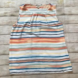 LOFT Outlet Striped Sleeveless Top Size S